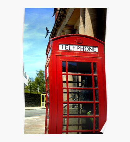 Telephone Box - Liverpool Poster