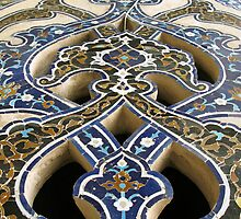 Interior detail in a mosque, Iran by Yulia Manko