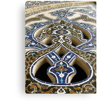 Interior detail in a mosque, Iran Canvas Print