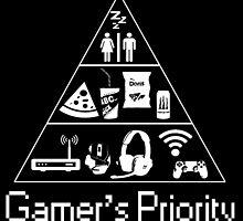 Gamer's Priority by Lymonart