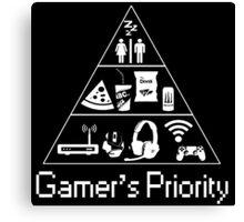 Gamer's Priority Canvas Print