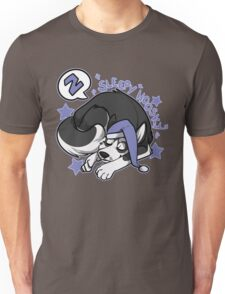 Sleepy Hoosky Unisex T-Shirt