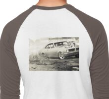 DIZYHG Tread Cemetery Burnout Men's Baseball ¾ T-Shirt