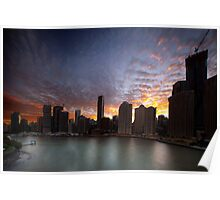 Brisbane River Sunset Poster