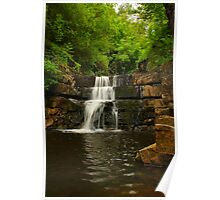 Waterfall steps, Bowlees Beck, Durham,England Poster