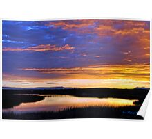 sunset clear creak,winslow Az Poster
