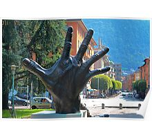 Let's have a Big Hand for Lake Como Poster
