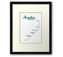 I'm Alan Partridge – Alan's Train to London Framed Print