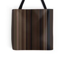 Moviebarcode: Back to the Future Part III (1990) [Simplified Colors] Tote Bag