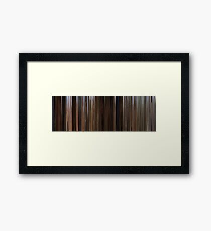 Moviebarcode: Back to the Future Part III (1990) Framed Print