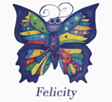 A Yoga Butterfly for Felicity One Piece - Short Sleeve