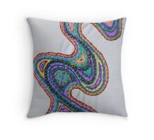 paisley path 2 Throw Pillow