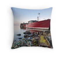 Dan's Boat Throw Pillow