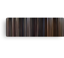 Moviebarcode: Back to the Future Trilogy (1985-1990) Canvas Print