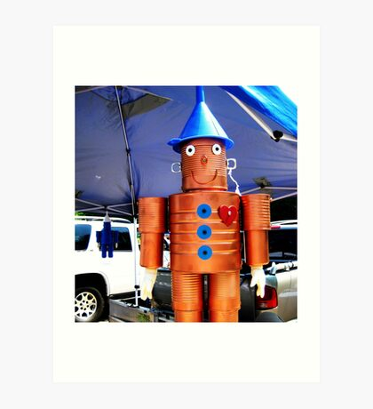 farmers market tin man Art Print