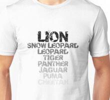 "Mac OS X Lion ""Versions"" Unisex T-Shirt"