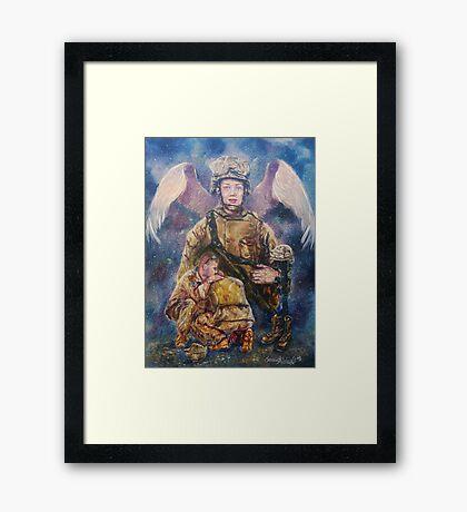 Fallen Soldier Angel Print Framed Print