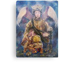 Fallen Soldier Angel Print Metal Print