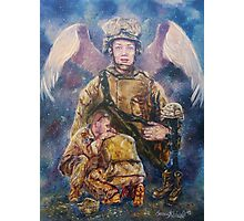 Fallen Soldier Angel Print Photographic Print
