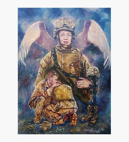 Fallen Soldier Angel Print Photographic Print
