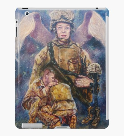 Fallen Soldier Angel Print iPad Case/Skin