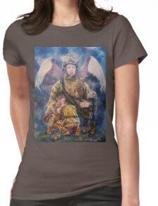 Fallen Soldier Angel Print Womens Fitted T-Shirt
