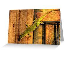 My Chameleon Friend Greeting Card
