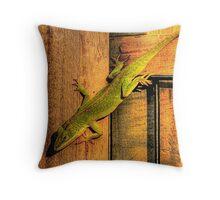 My Chameleon Friend Throw Pillow