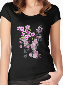 Japanese Cherry Blossoms Women's Fitted Scoop T-Shirt