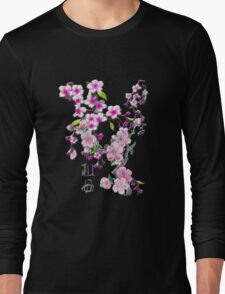 Japanese Cherry Blossoms Long Sleeve T-Shirt