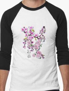 Japanese Cherry Blossoms Men's Baseball ¾ T-Shirt