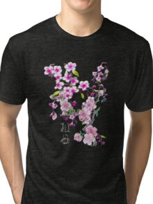 Japanese Cherry Blossoms Tri-blend T-Shirt