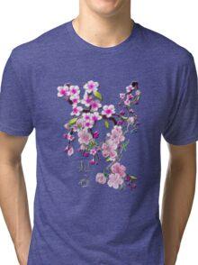 Japanese Cherry Blossoms Tri-blend T-Shirt