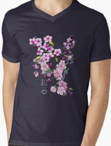 Japanese Cherry Blossoms Mens V-Neck T-Shirt