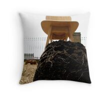 LONDON GARDEN 11 ~ ANT ROOTS Throw Pillow