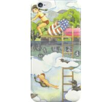 Girl Diving into the Spring Lake  iPhone Case/Skin