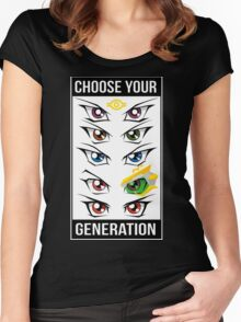 Yu-Gi-Oh! Eyes Women's Fitted Scoop T-Shirt