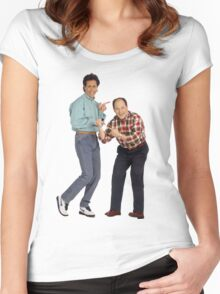 George and Jerry Women's Fitted Scoop T-Shirt