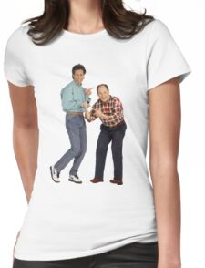 George and Jerry Womens Fitted T-Shirt