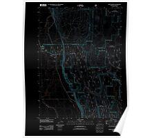 USGS Topo Map Oregon Fort Klamath 20110719 TM Inverted Poster