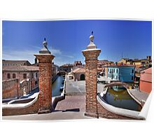 Comacchio Viewed by Trepponti Bridge Poster
