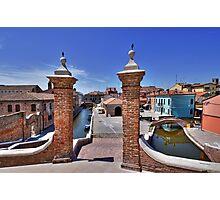 Comacchio Viewed by Trepponti Bridge Photographic Print
