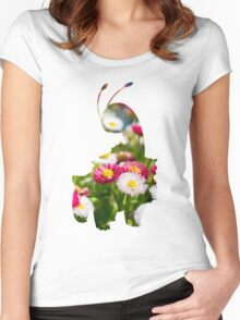 Meganium used petal blizzard Women's Fitted Scoop T-Shirt