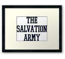 salvation army college navy blue Framed Print