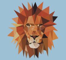 LowPoly Lion Head Kids Tee
