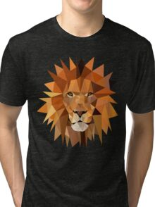 LowPoly Lion Head Tri-blend T-Shirt