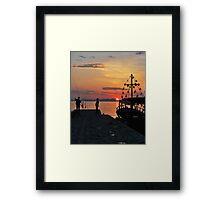 mellow harbour moment Framed Print