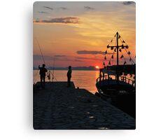 mellow harbour moment Canvas Print