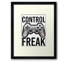 Control Freak Pun Video Game Controller Gamers Framed Print