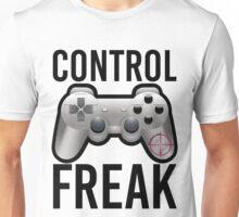 Control Freak Pun Video Game Controller Gamers Unisex T-Shirt